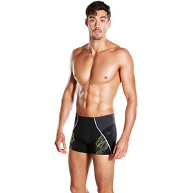 speedo Fit Panel Aquashorts Men black/oxid grey/lime punch